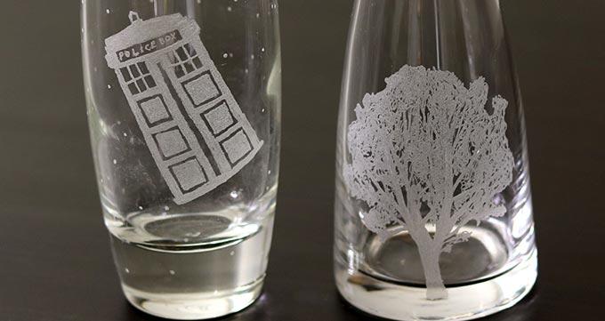 توجه به نکاتی در خصوص حکاکی روی شیشه با لیزر